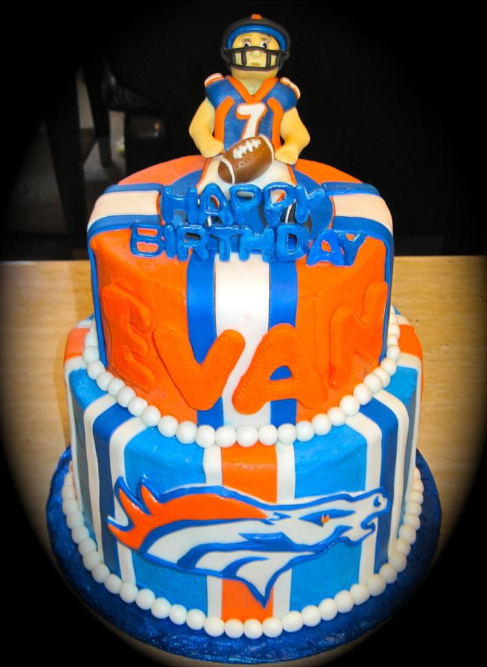 Magnificent Denver Broncos Birthday Cake Cake Decorating Community Cakes Birthday Cards Printable Trancafe Filternl