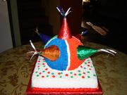 Mexican pinada cake