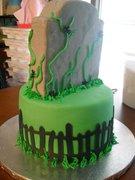 40th Birthday Tombstone Cake