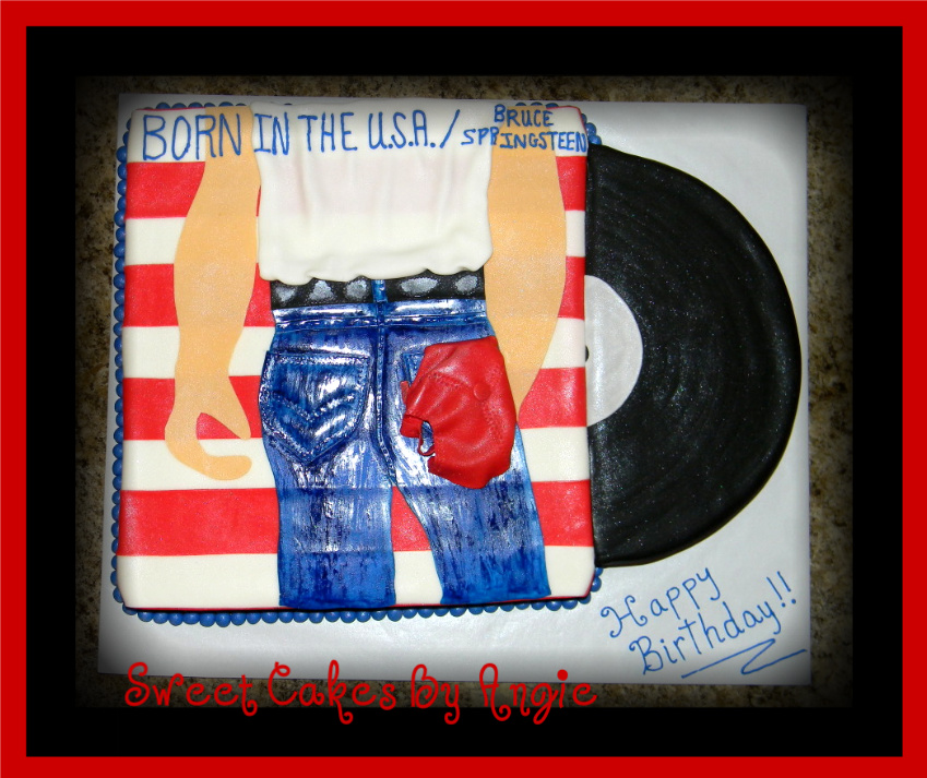 Swell Bruce Springsteen Birthday Cake Cake Decorating Community Funny Birthday Cards Online Bapapcheapnameinfo
