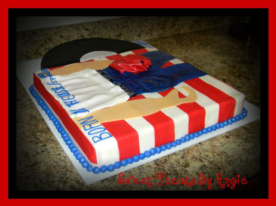 Excellent Bruce Springsteen Birthday Cake Cake Decorating Community Funny Birthday Cards Online Bapapcheapnameinfo