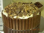 Kit Kat barrel cake