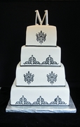 Damask Design-1st Real Wedding cake