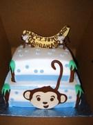 1st Happy Birthday Monkey Cake