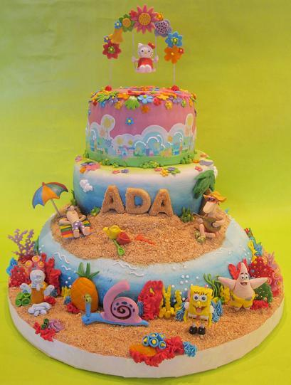 Cartoon Party cake