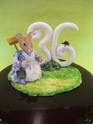Mrs. Mouse cake topper