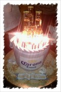 Corona Buket cake