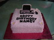 Computer birthday cake
