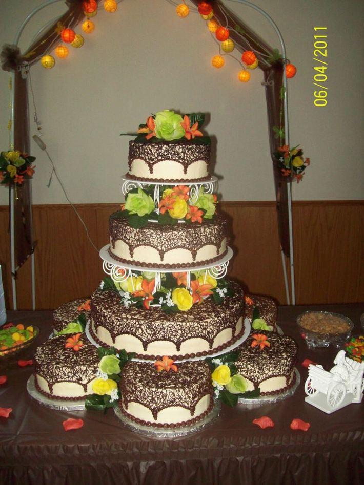 fall wedding cake - 1025F