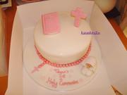 Praying communion cake 1 tier