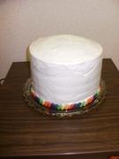 Rainbow cake (outside)