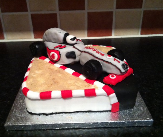 formula 1 birthday cake