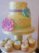 Baby shower with cupcakes
