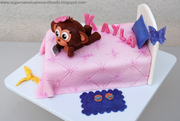 """Justice for Girls"" Monkey Bed Cake"