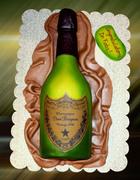 champagne dom perignon bottle cake