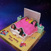 girls sleepover cake