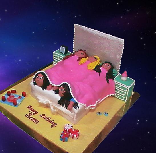 girls sleepover cake