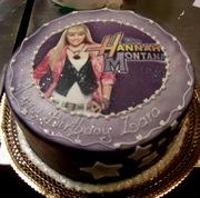 hannah montana cake with photo
