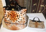 cavalli leopard print handbag cake