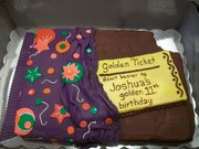 Golden Ticket Cake