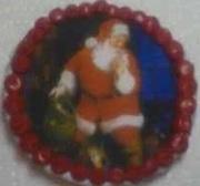 Round Vintage Santa Cookie