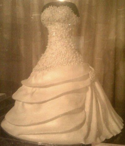 Bridal dress wedding cake -922F