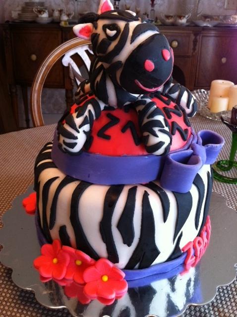 Super Zebra Birthday Cake Decorating Community Cakes We Bake Birthday Cards Printable Inklcafe Filternl