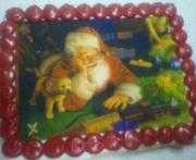 Vintage Santa Cookie