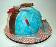 Construction Worker Butt Cake