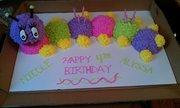 caterpiller girly cake