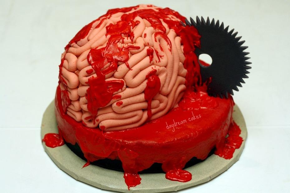 Super Gross Brain Cake Decorating Community Cakes We Bake Personalised Birthday Cards Arneslily Jamesorg