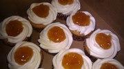Peaches and cream ciroc cupcakes