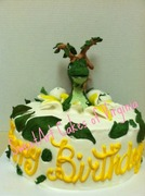 watermark dinosaur cake
