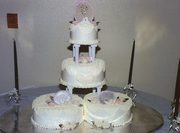 Small tiered wedding cake