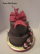 Chocolate and Tuxedo Strawberries Cake