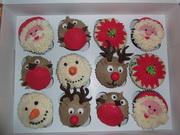 Fondant Fetish - Christmas Cupcakes