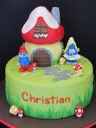 Smurf Birthday Cake