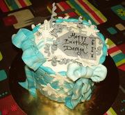 Winter marble birthday cake