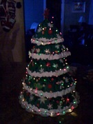 xmas tree cake lit