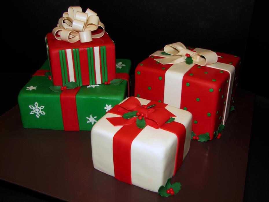 Christmas Present Wedding Cake