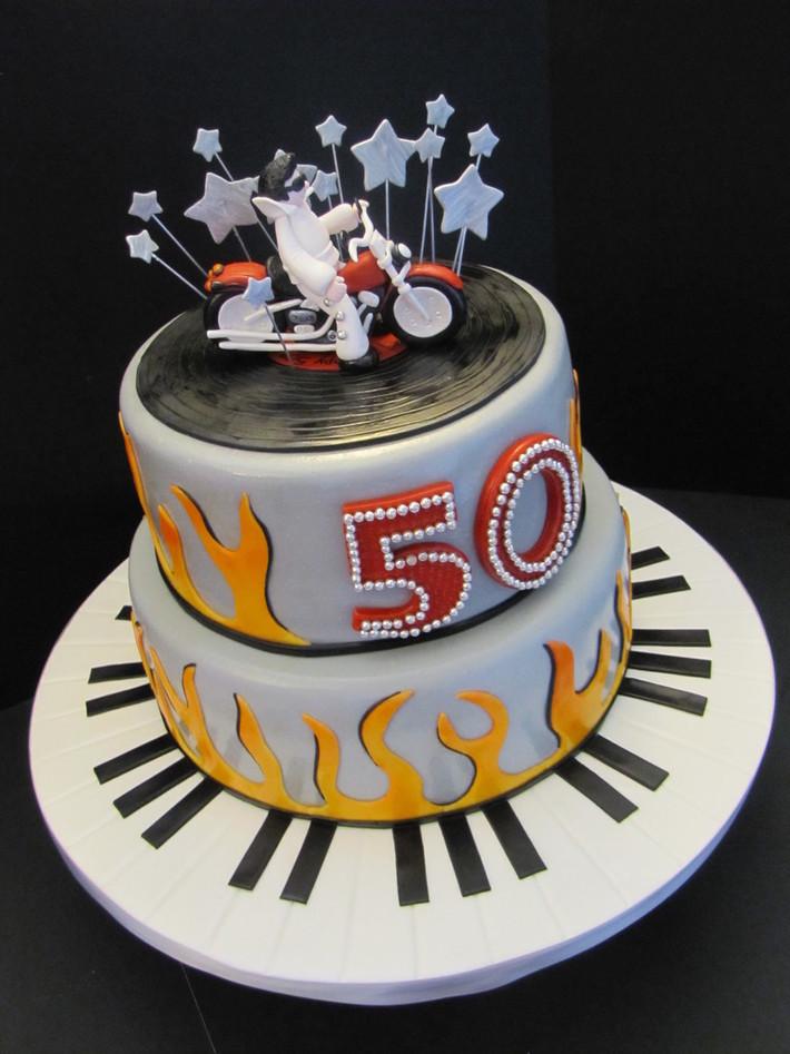 Sensational Elvis Harley Birthday Cake Cake Decorating Community Cakes We Bake Funny Birthday Cards Online Fluifree Goldxyz
