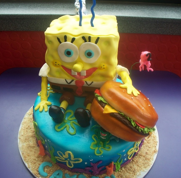 Spongebob Cake for grandson