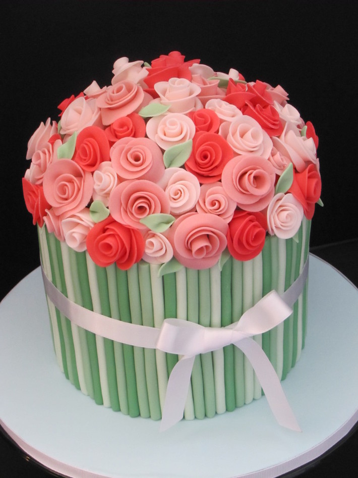 Flower Bouquet Birthday Cake