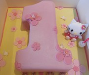 Hello Kitty number Cake
