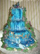 Fondant Fetish - Butterfly Waterfall 3 tier cake