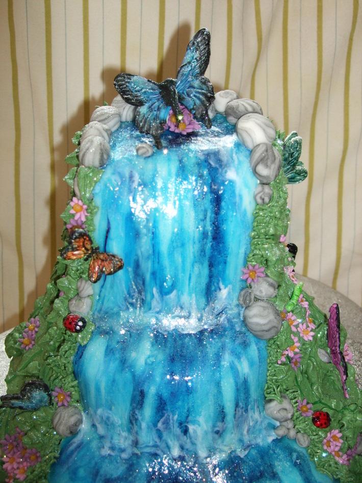 Fondant Fetish - Butterfly Waterfall cake