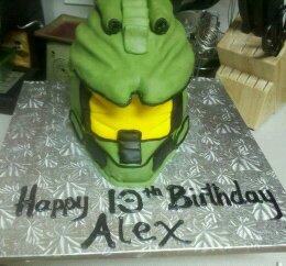 Superb Master Chief Halo Helmet Cake Decorating Community Cakes We Bake Birthday Cards Printable Nowaargucafe Filternl