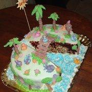happy birds birthday cake