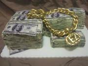 """Make Money"" cake"