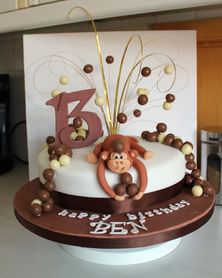 Monkey Birthday Cake with Maltesers!